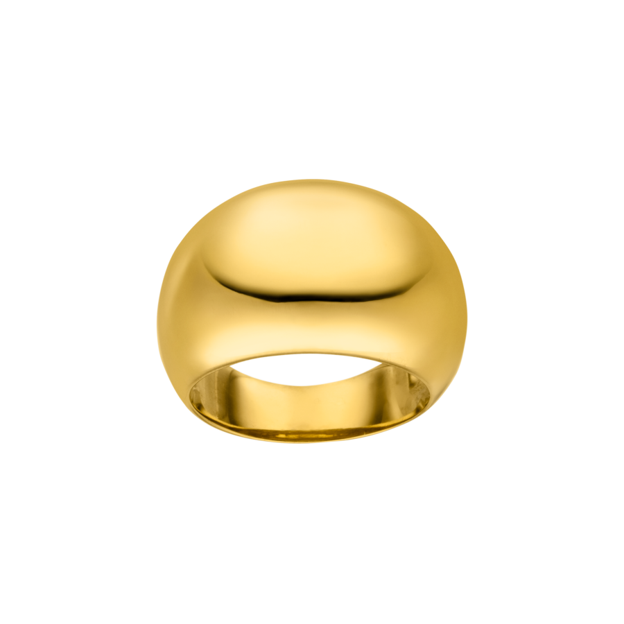 Large Chunky Ring Gold