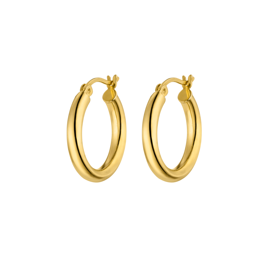 Medium Hoops Gold