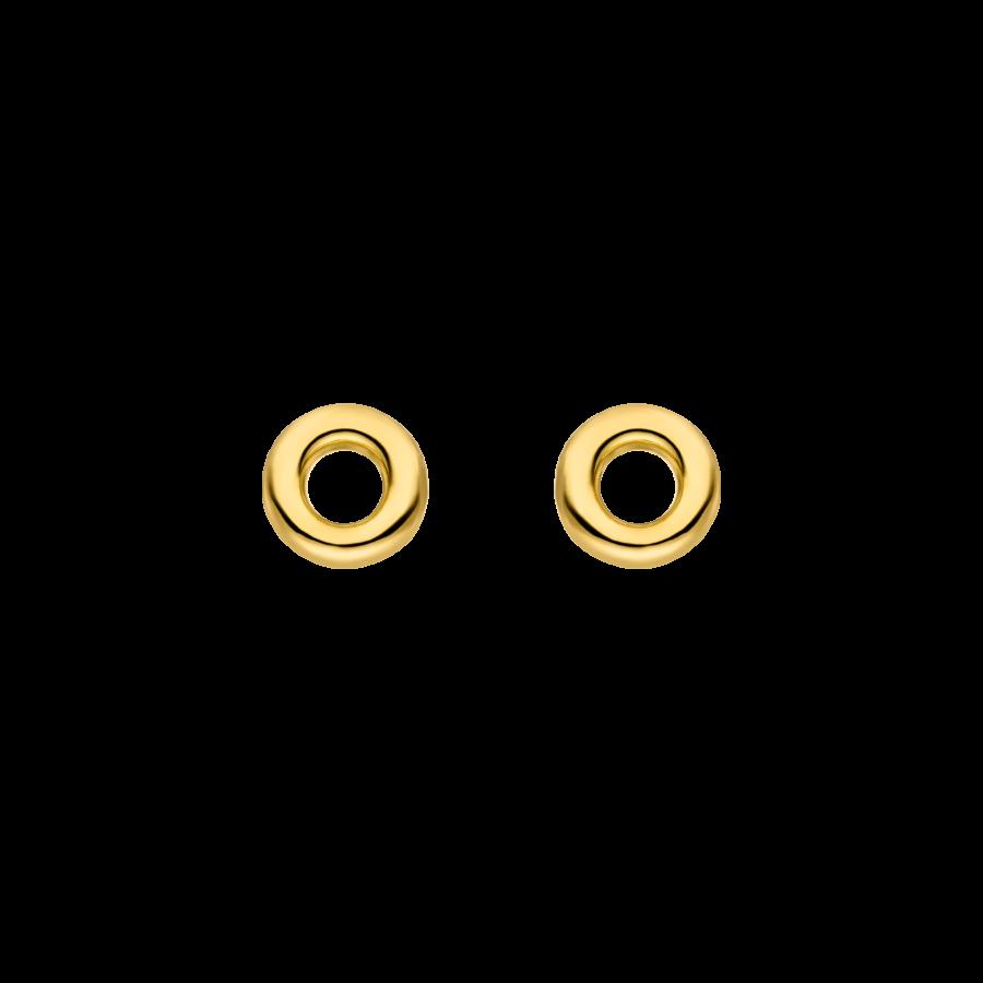 Mini Donut Earrings Gold