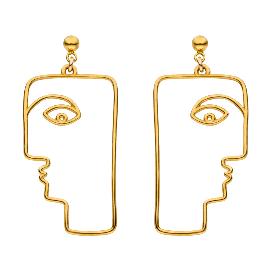 THE FACE Earrings Gold