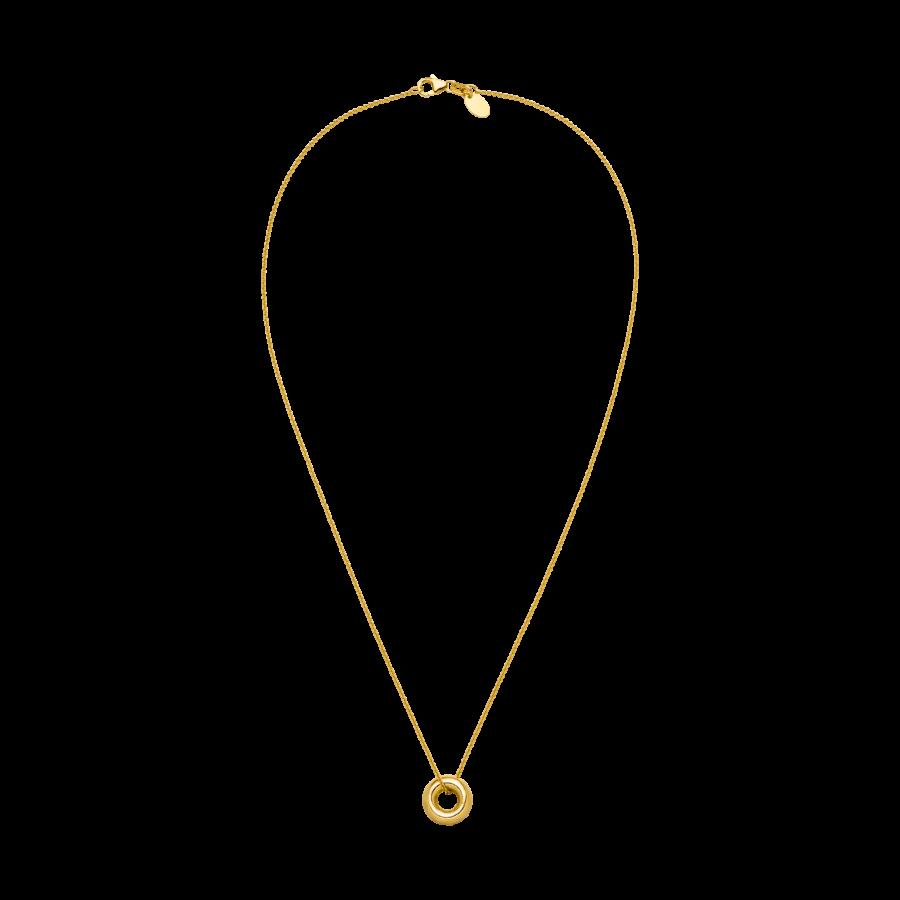 Mini Donut Necklace Gold