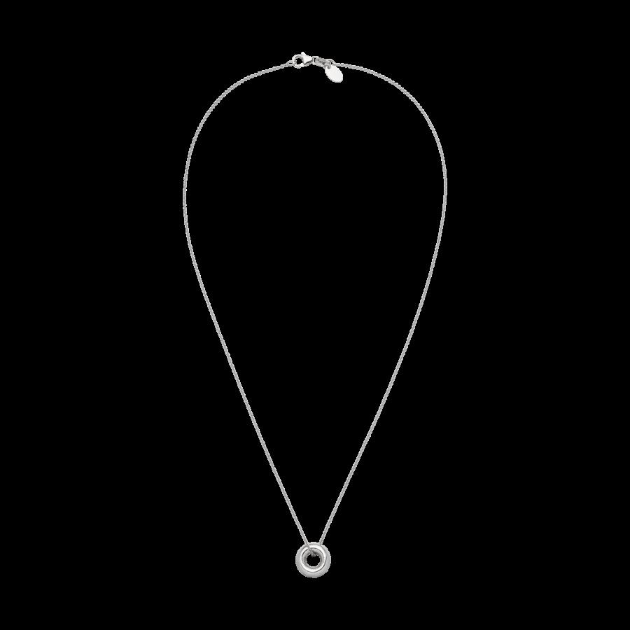 Mini Donut Necklace Silver