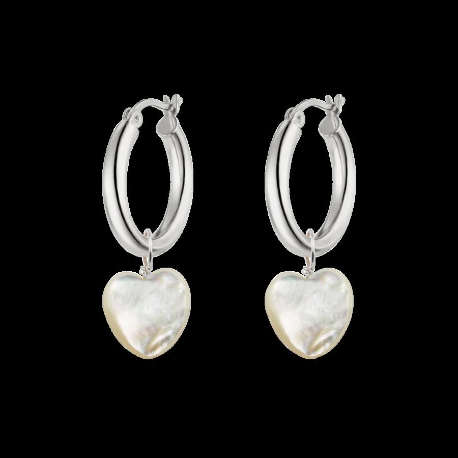 Heart Hoops Silver