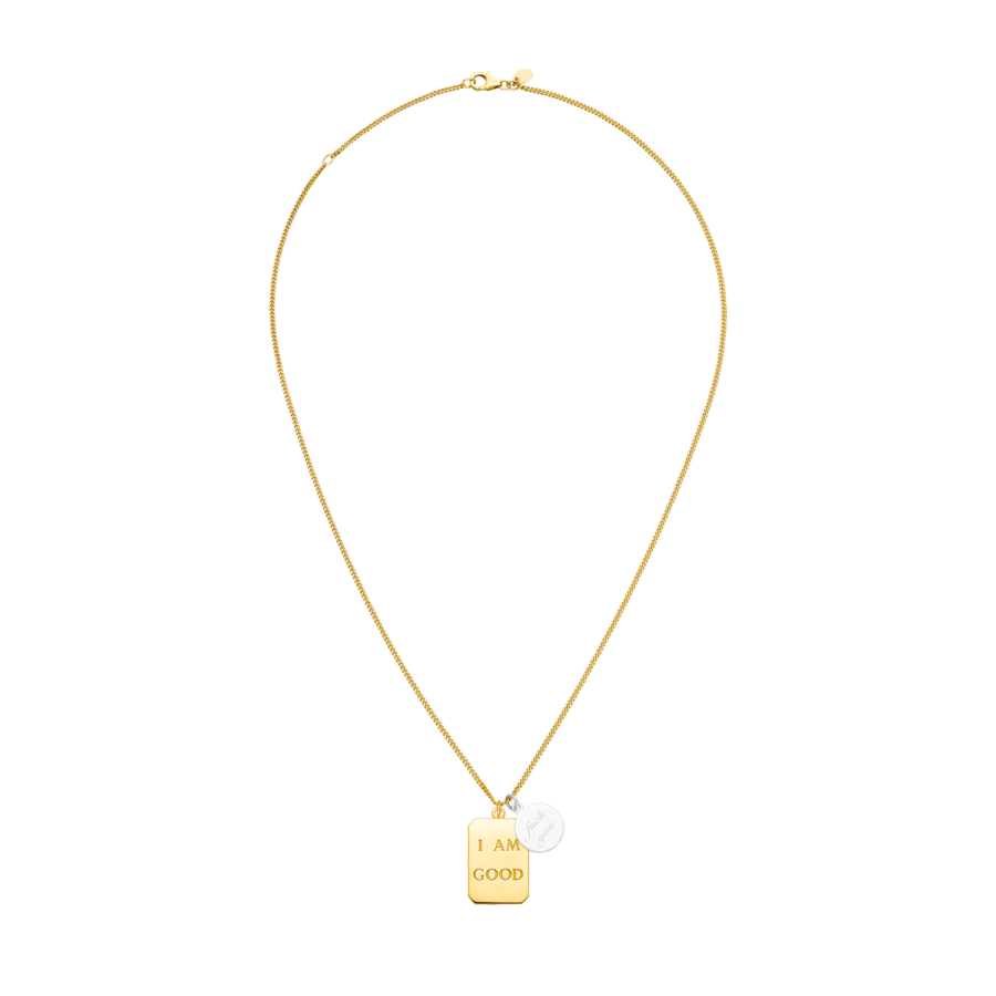 I AM GOOD / fuck you Necklace Gold