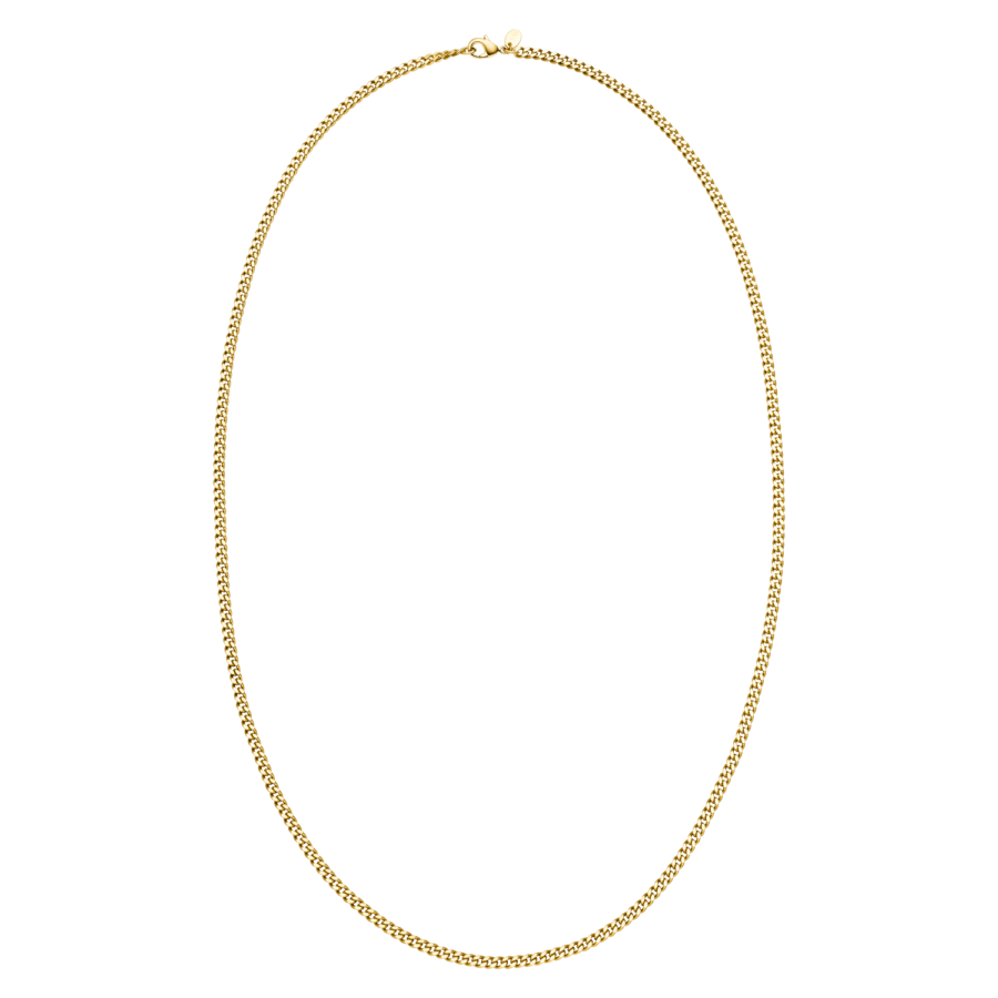 Long Curb Necklace Gold